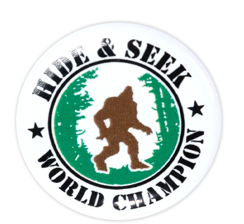 Hide & Seek World Champion Button