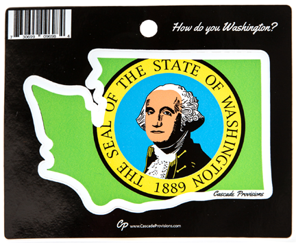 State Seal Flag Sticker