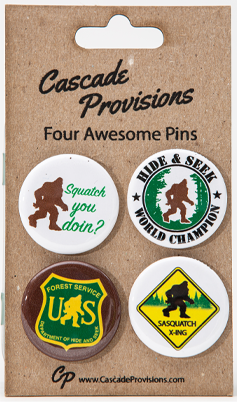 Sasquatch Pin 4 Pack