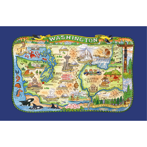 Washington State Tea Towel