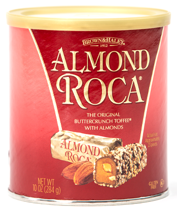 Brown & Hailey, Almond Roca flavored, individually foil wrapped pieces, 10oz. container