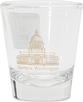 1.75oz tapered Capitol Shot Glass