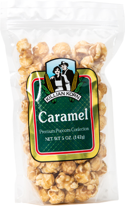 A tasty treat of premium popcorn covered in traditional caramel,  5 oz.
