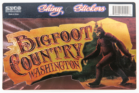 "Bigfoot, 6"" x 3.25"" foil sticker"