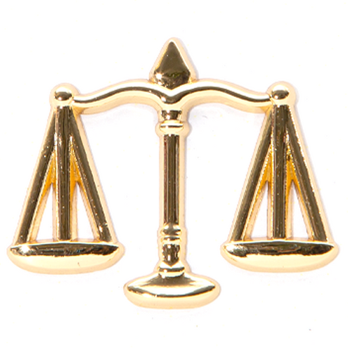 Scales of Justice Pin