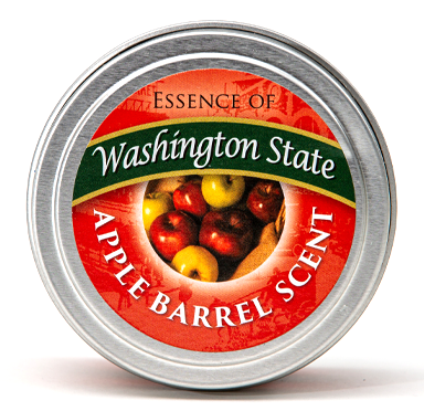"Essence of Washington, Apple Barrel scent, Travel Candle 1.75"" x 2.5"""