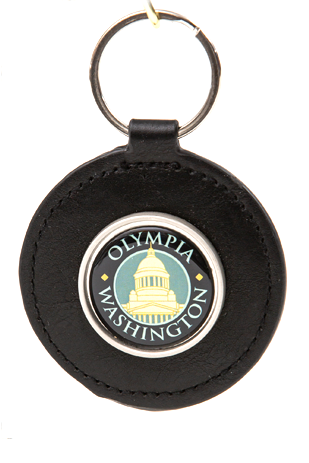 Leather Capitol Key Chain