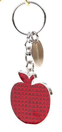 Glitter Apple Key Chain