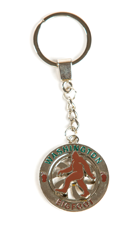 Bigfoot Spinner Key Chain