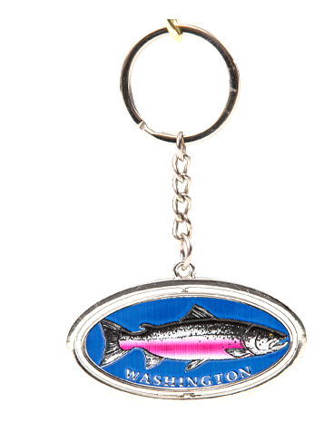Salmon Spinner Key Chain
