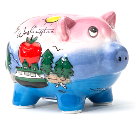 Washington Piggy Bank