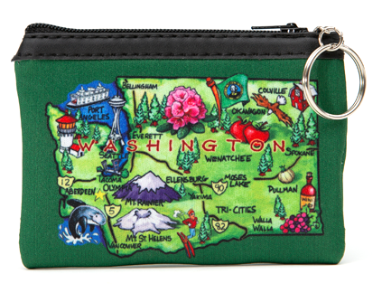 Map Zip Purse
