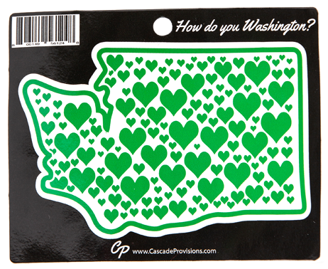 Washington Hearts Sticker