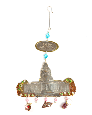 Metal Capitol Ornament