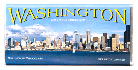 Washington Dark Chocolate Bar