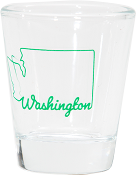 Washington Outline Shot Glass