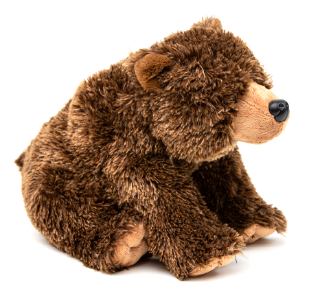 "Grizzly Bear hugs, plush toy, durable fabric of this realistic stuffed animal can stand up to any adventure,12"" of cuddly cuteness"