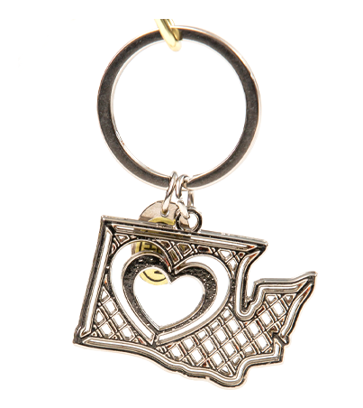Heart in Washington Key Chain