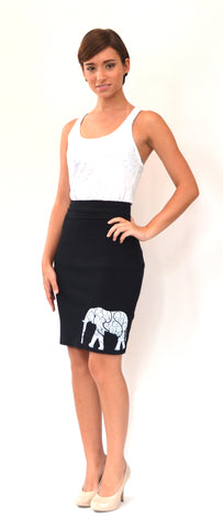 Elephant Pencil Skirt
