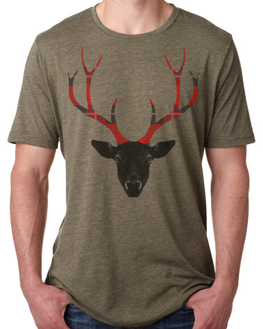 Plaid Antlers T-shirt