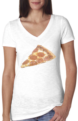 Pizza Time V-neck Vintage Style Shirt