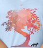 The Fox and The Tree V-neck T-shirt