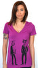 Cat Detectives Deep V-neck T-shirt