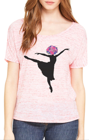 Dancing in the Flowers Scoop Neck Loose Fit Tee