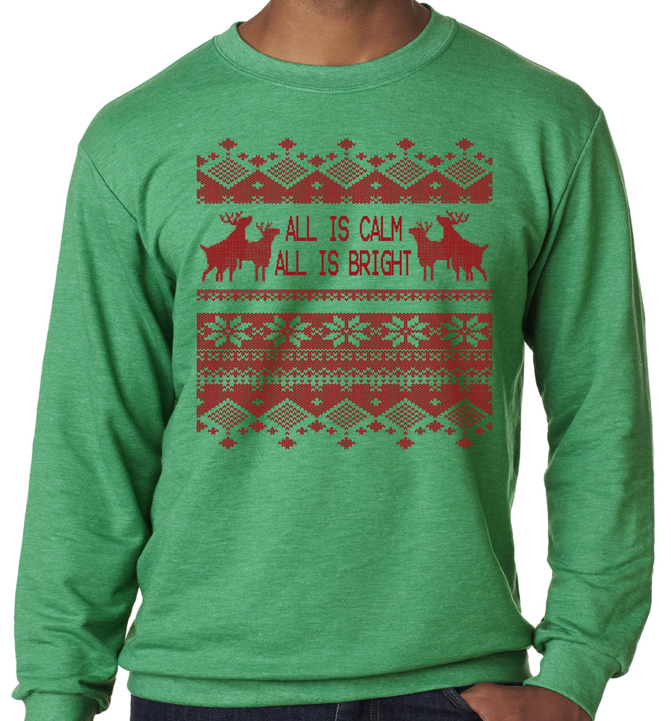 All is Calm Ugly Christmas Sweater