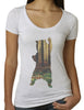 Bear in the Woods V-neck T-shirt