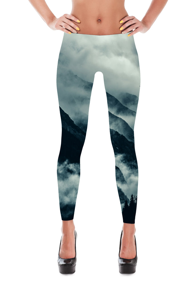 Cloudy Mountains Leggings