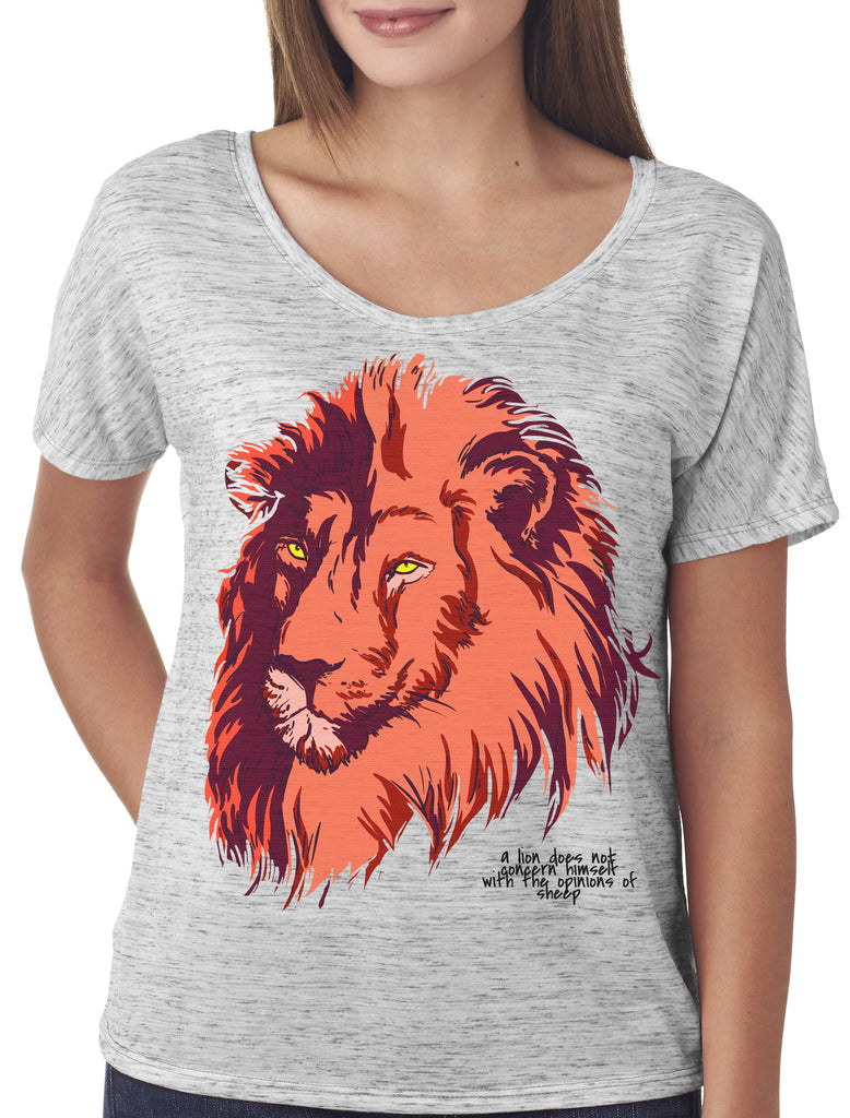 Lion Scoop Neck Loose Fit T-shirt
