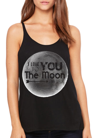 Moon and Back Slouchy Tank