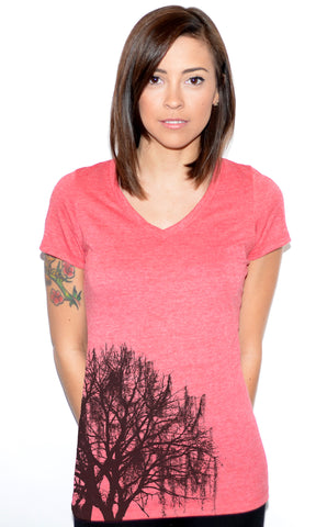 Mossy Tree V-neck T-shirt