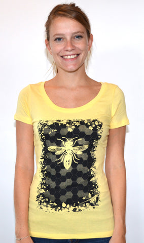 Save The Bees Scoop Neck t-shirt