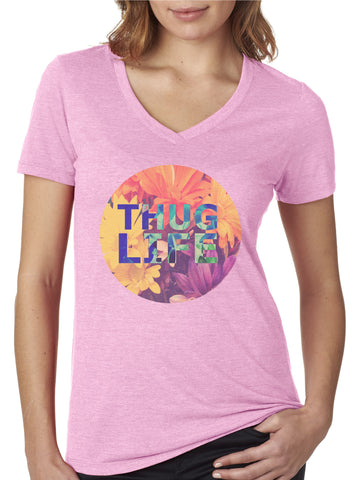Thug Life V-neck T-shirt