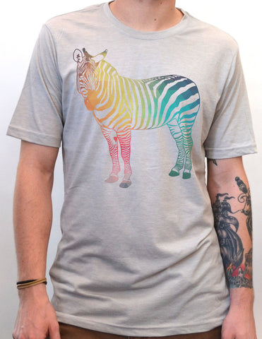 Geometric Abstract Zebra Vintage Style T-Shirt