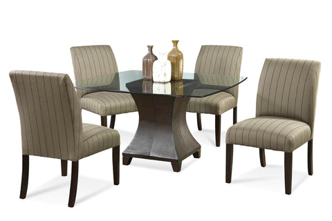 TAYLOR HOUR GLASS DINING SET
