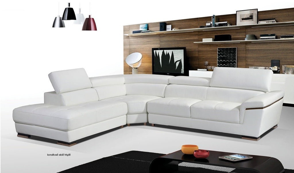 ITALIAN LEATHER SECTIONAL #043