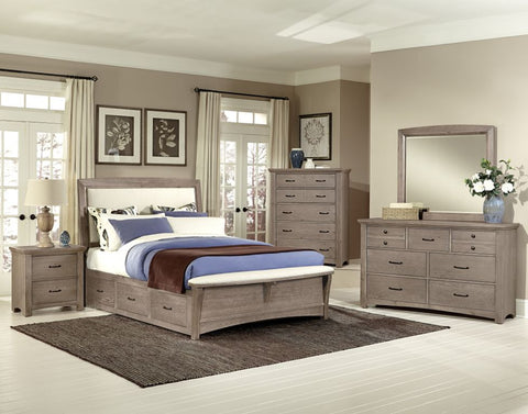 DRIFTWOOD COLLECTION UPHOLSTERED BED WITH STORAGE