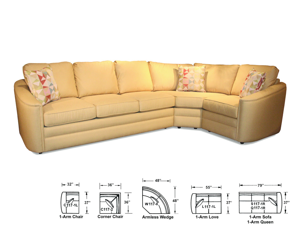 CAPRIS 117 SLEEPER SECTIONAL
