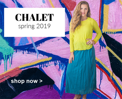 CHALET - Pop of Color!
