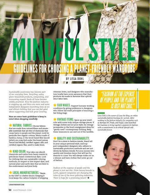 Mantra Magazine Lissa Dohl Article
