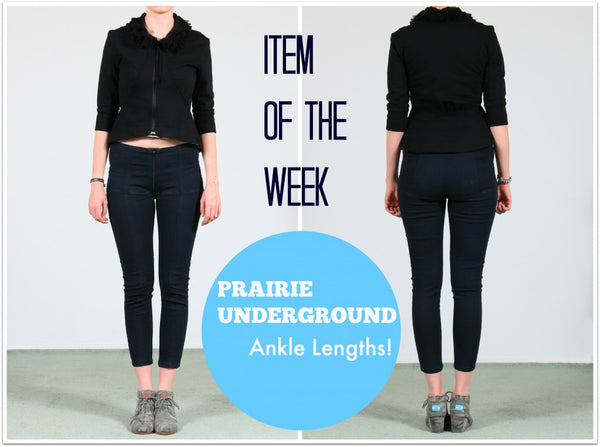 Ankle Length Denim Girdles and Cigarette Leggings by Prairie Underground available at LISSAtheshop.com.