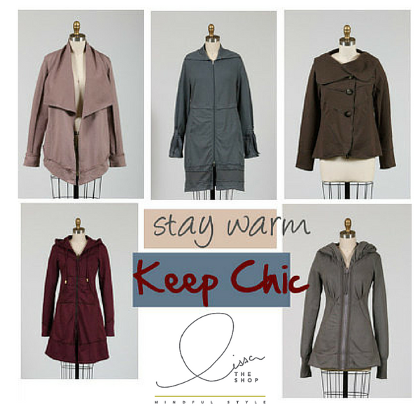 Jackets to wear from cold to warm.