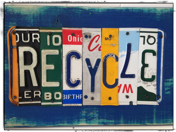 Recycle License Plate