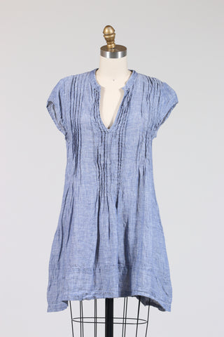 CP Shades Regina Cap Sleeves, Tunic (Chambray Linen), Now in Black Chambray!