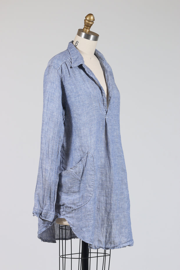 CP Shades Teton Tunic Top (Chambray Linen)