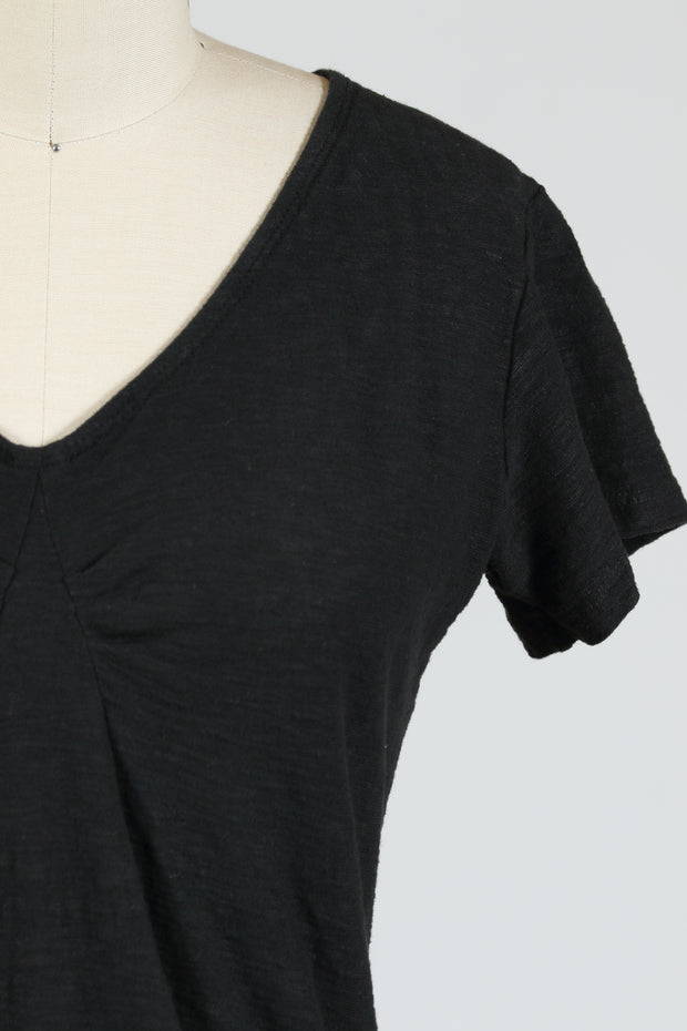 Cut Loose Tuck Front Tee (Short Sleeve), {Black/White}