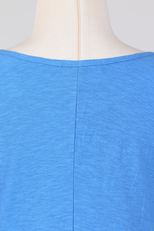 Cut Loose V-Neck Elbow Sleeve Tee (Cotton Linen Knit) Multiple Colors